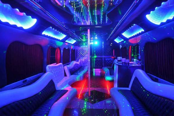 18 Passenger party bus rental Council Bluffs
