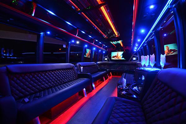 40 passenger party bus rental Council Bluffs